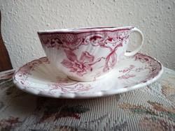Sarreguemines Fontanges fajansz teás csésze