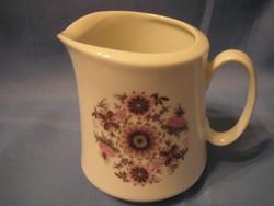 Antik Bavaria,virágos Porcelán Tej-tejszín kiöntő
