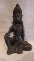 Régi bronz részletgazdag keleti szobor