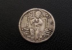 II. István Uros szerb dénárja, UROSIUS REX STEFAN , hátoldal IC-XC (Jézus Krisztus), 1.89 g. Ritka!