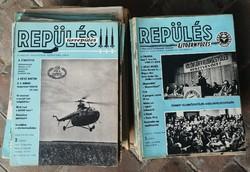 Repülés (Űrrepülés / Ejtőernyőzés) folyóiratok, 50-80-as évek