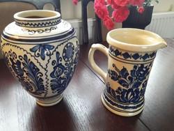 Korond, Korondi kerámia váza és kancsó