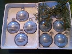 Belga üveg karácsonyfadíszek (10 db)
