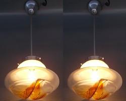 Mazzega Murano Space Age Retro Vintage lámpa pár 70-es évek