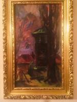 Tenkács Tíbor Kistokaji harangláb című olaj festménye .