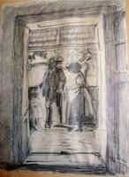 NYILASY SÁNDOR SZEGED, 1873 - 1934, Ceruza rajz