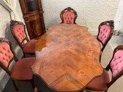 Neobarokk étkező szett 6 db székkel!