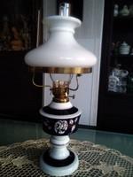 Wallenforfi  porcelán petróleum lámpa luszter búrával, kobalt kék színben!
