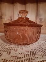 Hatalmas üveg tároló,bonbonier 20x17 cm!
