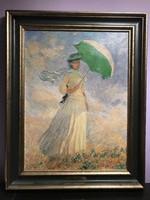 Monet - Nő napernyővel művészi nyomat - Art Bussche Antwerp