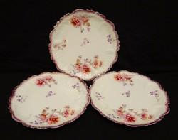 Gyönyörű, szecessziós korú desszertes tányérok 3 db egyben