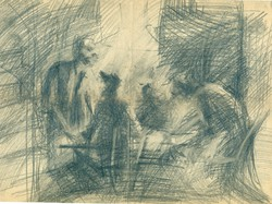 Mulasics László  Főiskolás  korábol származó rajza