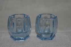 2 db vastag falú, sokszögletű likőrös pohár  ( DBZ 00109 )