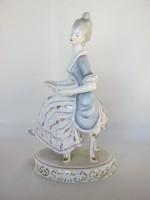 Hollóházi porcelán barokk hölgy