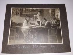 1916-ban készült, gyöngyörű antik, vintage fotó, kép eladó