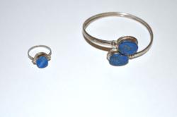 Ezüst karperec és gyűrű lapis lazulival
