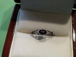 Antik gránát köves ezüst gyűrű