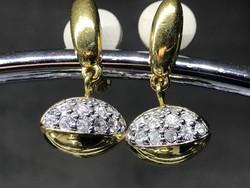 Swarovski fülbevaló, lencse alakú, jelzett mindegyik darabon