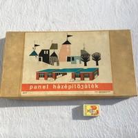 Retro Panel házépitőjáték - Panel Játék - Műanyag ipari KTSZ gyártása - 60 -as évek