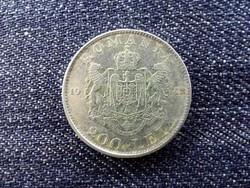 Románia I. Mihály .835 ezüst 200 Lej 1942 / id 13920/