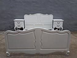 Ágy,antik ágy,éjjeliszekrény neobarokk ágy,provence