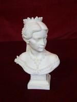 Sisi Magyarország királynőjének mellszobra,  magassága 12 cm.