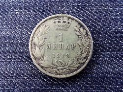 Szerbia I. Péter (1903-1918) .835 ezüst 1 dínár 1912 / id 13919/