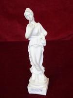 Görög női alabástrom szobor, magassága 16 cm.