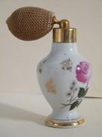 Rózsás porcelán pumpás parfümtartó