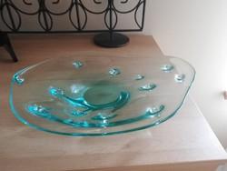 Régi üveg asztalközép 30 cm