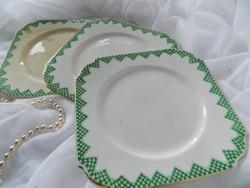Antik Taylor&Kent Longton England süteményes tányér 3 db