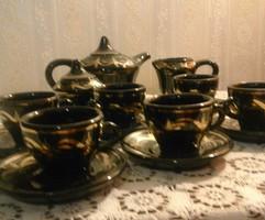 Régi orosz kerámia kávés készlet