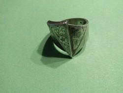 Csodás mutatós antik ezüst gyűrű