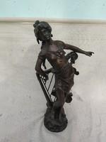 Csodálatos bronz szobor, Czinege szignóval.