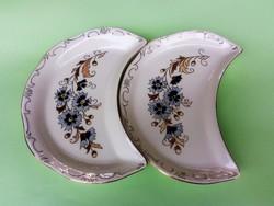 Zsolnay búzavirág mintás csontos tányér pár 3.