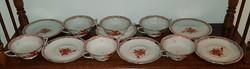 6 személyes (12 darab) Herendi apponyi orange - UTASELLÁTÓ - kétfülű leveses csésze és csésze alj