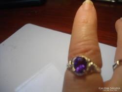 LILA cirkonkőves 925-ös jelzésü gyűrű