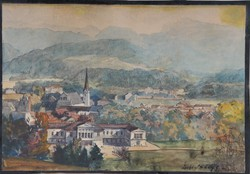 Háry Gyula (1864-1946): Bad Ischl, akvarell