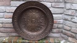 Reneszánsz stílusú öntöttvas falitál,62.5cm átmérő