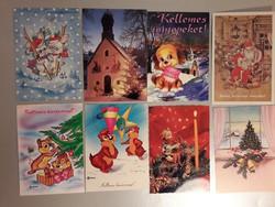 Régi karácsonyi képeslap 8 darab
