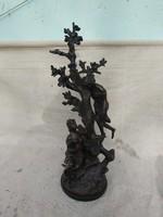 Csodálatos bronz szobor kompozíció. Czinege szignóval.