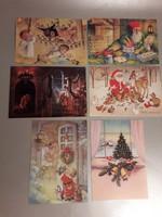 Régi karácsonyi képeslap 6 darab