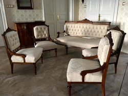 Komplett antik ülőgarnitúra restaurálva