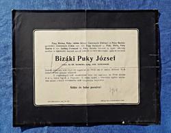 Kassa 1914, Bizáki Puky Pál gyászjelentése