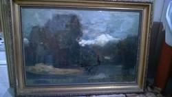Paál László után Békák mocsara o.,v.festmény  Ha Ön remek festményt kíván látni környezetében