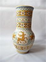 Gorka Géza nagy méretű szarvasos habán vázája