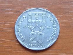 PORTUGÁLIA 20 ESCUDOS 1986 #