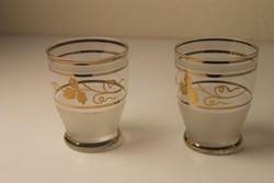 2 db Art Deco fújt üveg vizes pohár