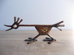 Percz János bronz madár