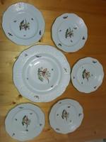 Herendi Rothschild-mintás süteményes tányérok